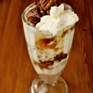 Founder Doug's delicious Pecan Pie Sundae